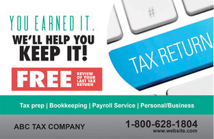 Accounting Direct Mail Postcard Sample 04