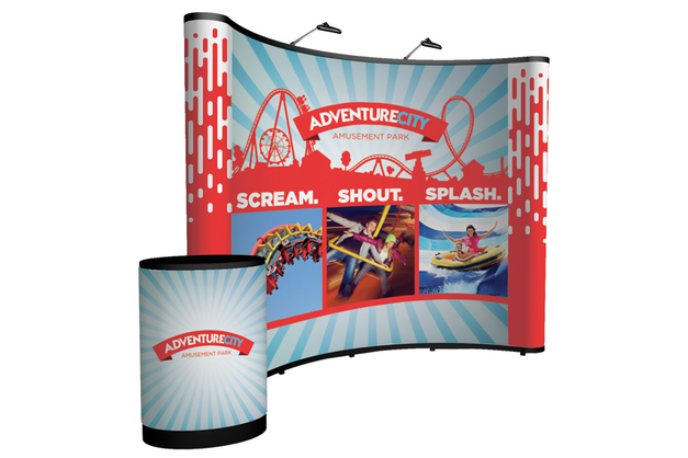 10' Pop-Up Display Printing | Curved | Miami