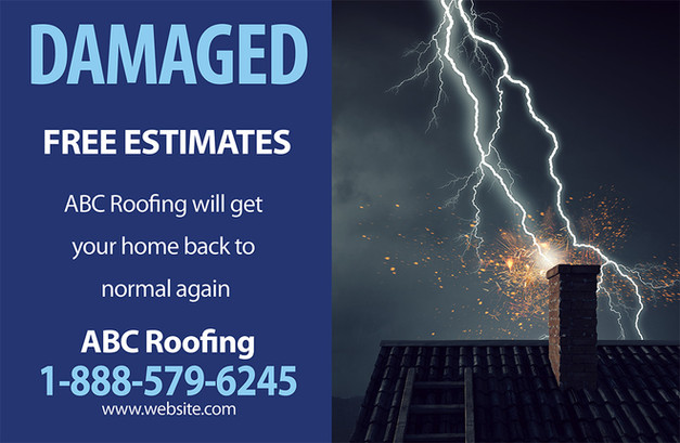 Roofing Direct Mail Postcard Sample 04