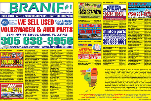 Opa Locka Junkyard >> Welcome to Junkyard Listing   Miami-Dade   Broward