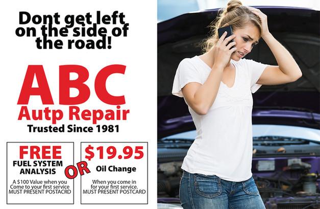 Auto Repair Direct Mail Postcard Sample 01