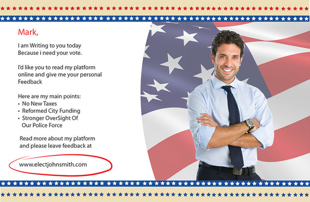 Political Campaign Direct Mail Postcard Sample 09