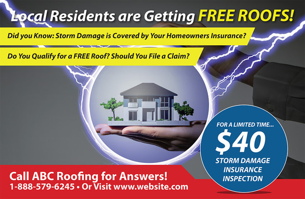 Roofing Direct Mail Postcard Sample 03