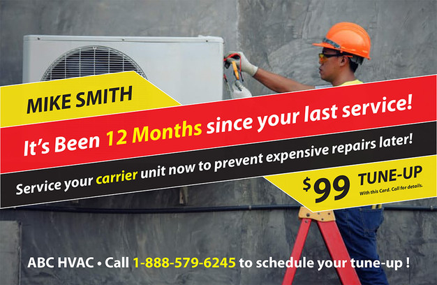 A/C Heating Direct Mail Postcard Sample 03