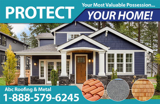 Roofing Direct Mail Postcard Sample 06