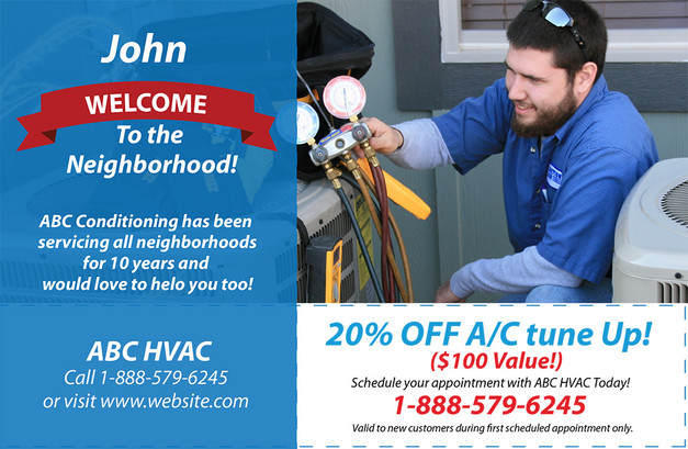 A/C Heating Direct Mail Postcard Sample 08