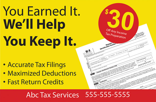 Accounting Direct Mail Postcard Sample 03