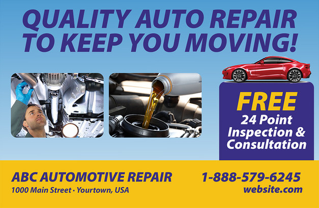 Auto Repair Direct Mail Postcard Sample 05