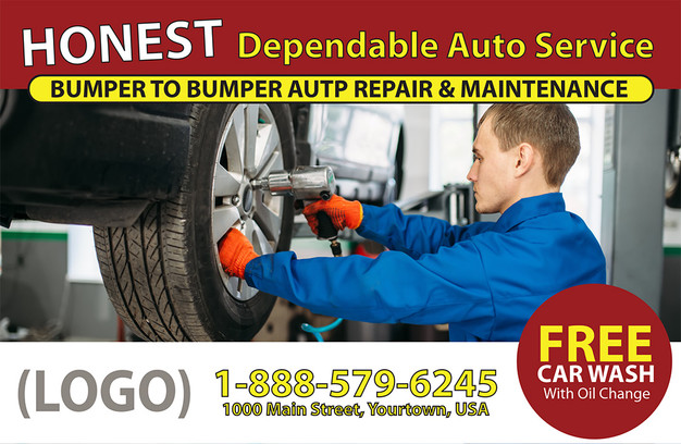 Auto Repair Direct Mail Postcard Sample 06