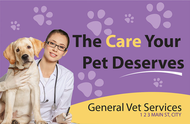 Veterinary Direct Mail Postcard Sample 01