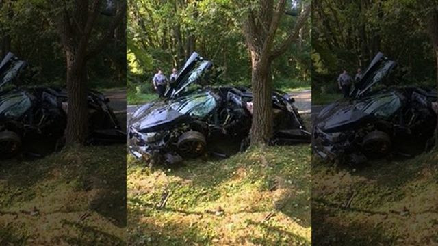McLaren 720S sports car 'destroyed' in crash day after it was bought!