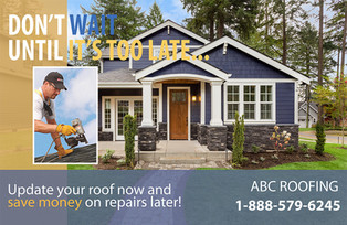 Roofing Direct Mail Postcard Sample 05