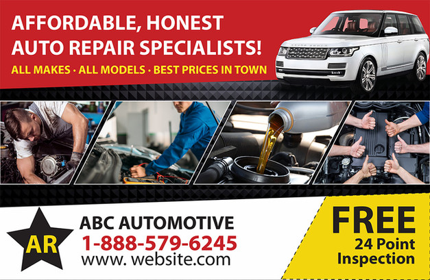 Auto Repair Direct Mail Postcard Sample 02