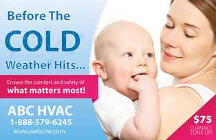 A/C Heating Direct Mail Postcard Sample 02