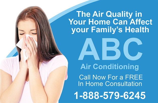 A/C Heating Direct Mail Postcard Sample 10