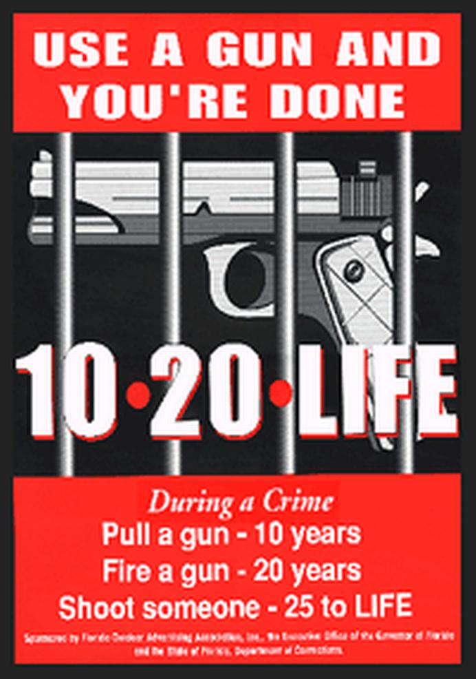 Zero Tolerance with Florida's 10 20 life law