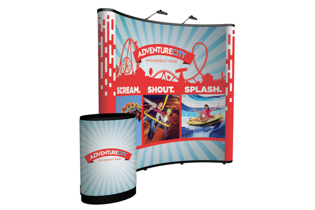 8' Pop-Up Display Printing | Curved | Miami
