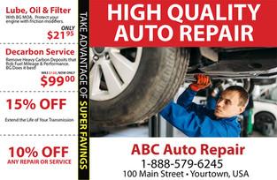 Auto Repair Direct Mail Postcard Sample 04