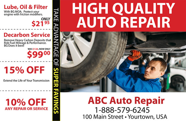 Auto Repair Direct Mail Postcard Sample 04