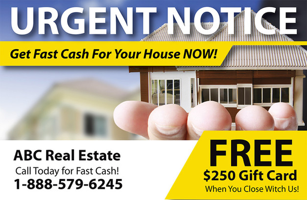 Real Estate Investment Direct Mail Postcard Sample 08