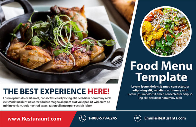 Restaurant Direct Mail Postcard Sample 02