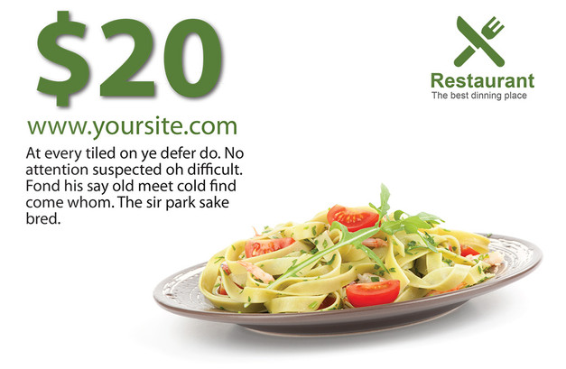 Restaurant Direct Mail Postcard Sample 11