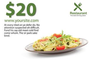 Restaurant Direct Mail Postcard Sample 11