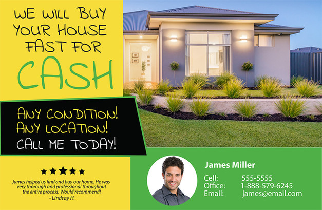 Real Estate Investment Direct Mail Postcard Sample 07