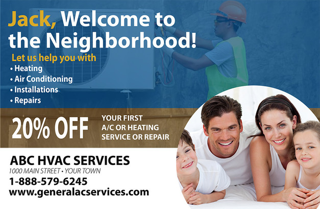 A/C Heating Direct Mail Postcard Sample 05