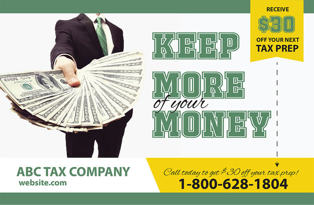 Accounting Direct Mail Postcard Sample 06
