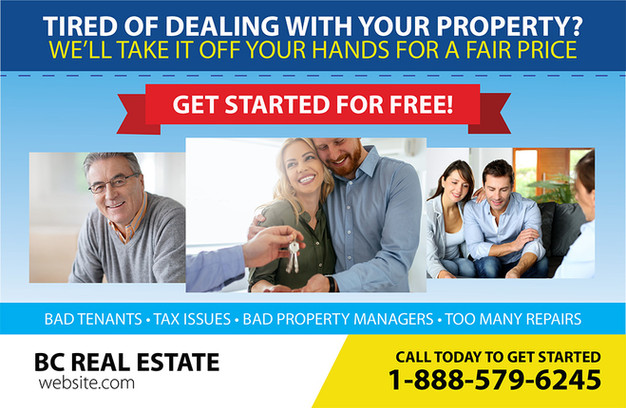 Real Estate Investment Direct Mail Postcard Sample 03