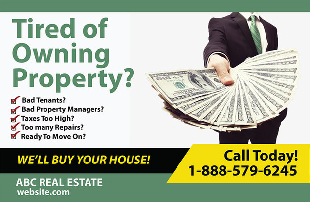 Real Estate Investment Direct Mail Postcard Sample 05