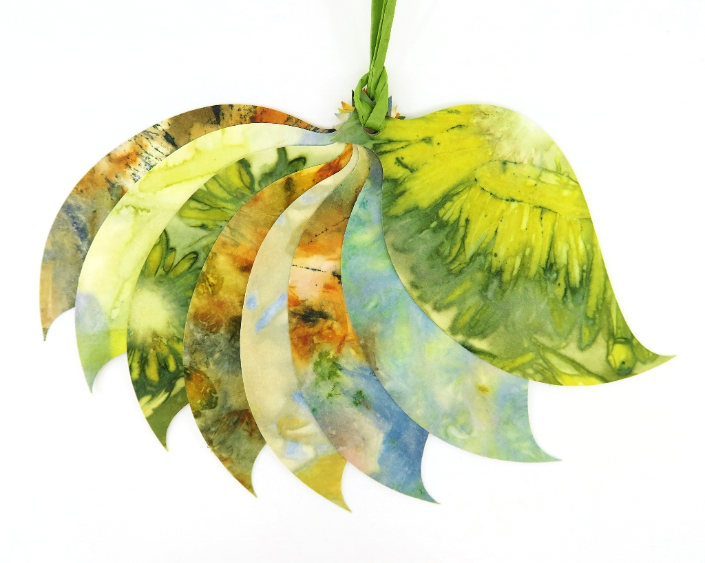 Ecoprint Leaf Gift Tages
