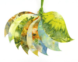 Ecoprint Leaf Gift Tages