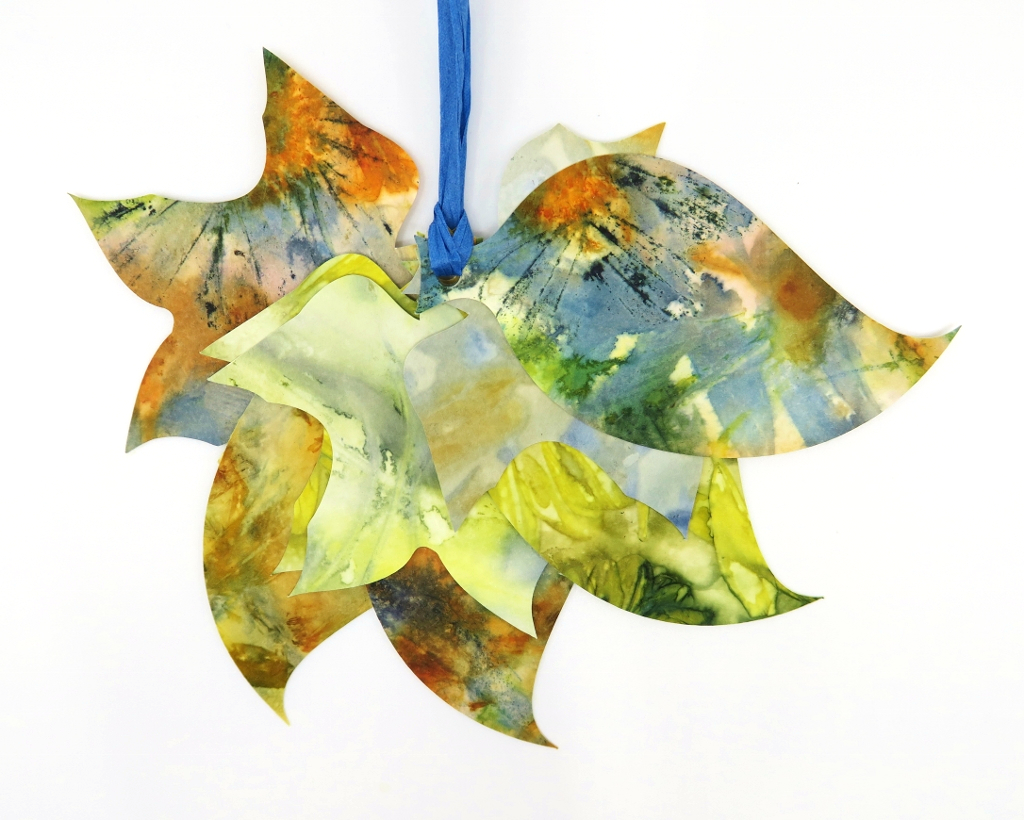 Ecoprint Mixed Leaf Gift Tags