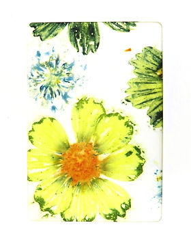 Ecoprinted Blank Greeting Card