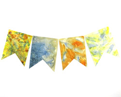Ecoprinted Bunting Party Decorations