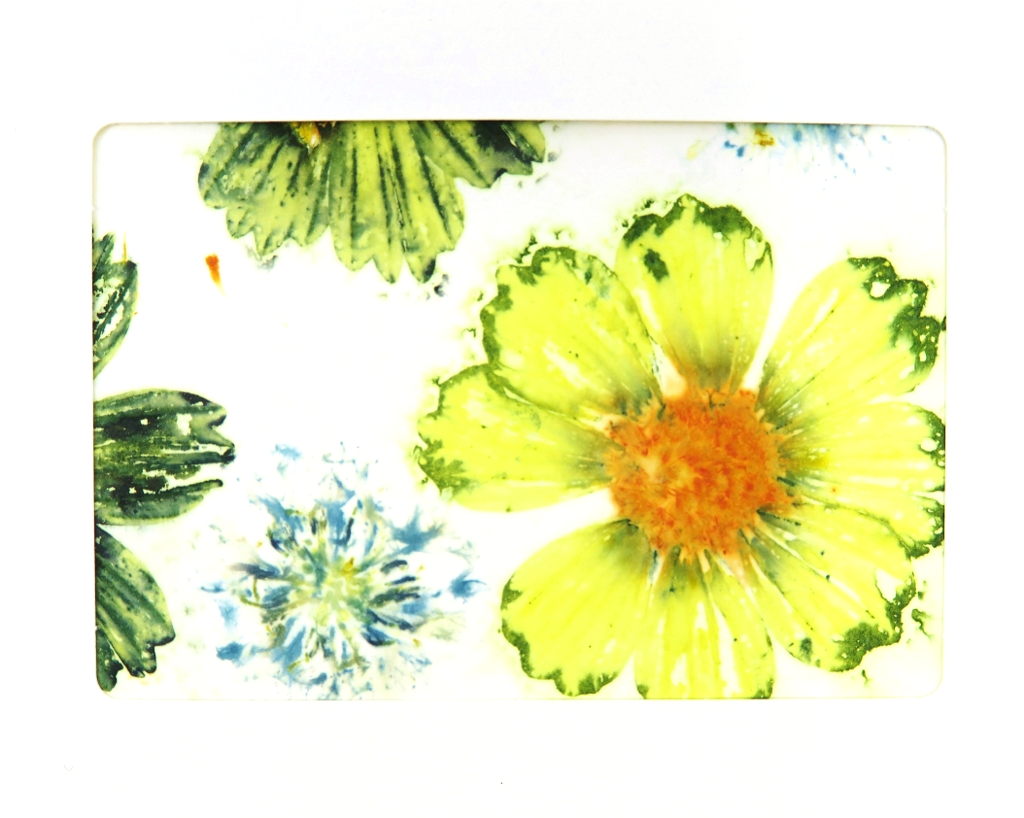 Ecoprinted Blank Note Card 2