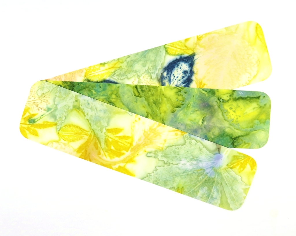 Ecoprinted Bookmarks 2
