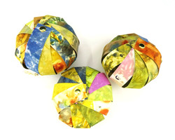 Ecoprinted Paper Ornaments