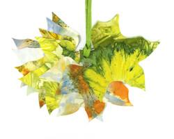 Ecoprint Tulip Tree Leaf Gift Tags