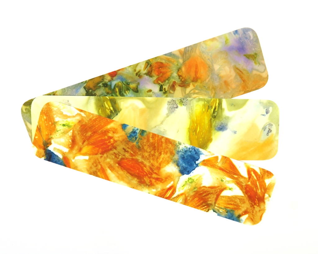 Ecoprinted Bookmarks 1