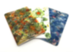 Hand bound ecoprinted notebooks made by Peta Bailey at StudioPetaBooks