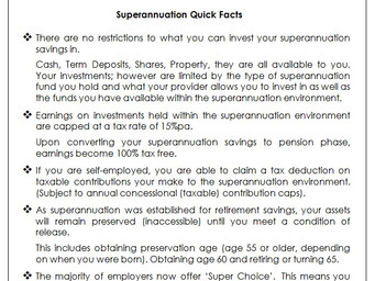 Superannuation – Don't believe everything you hear.