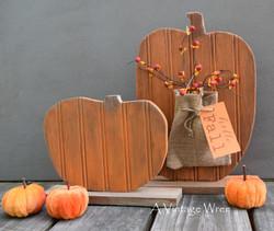 Reclaimed Wood Pumpkin Set