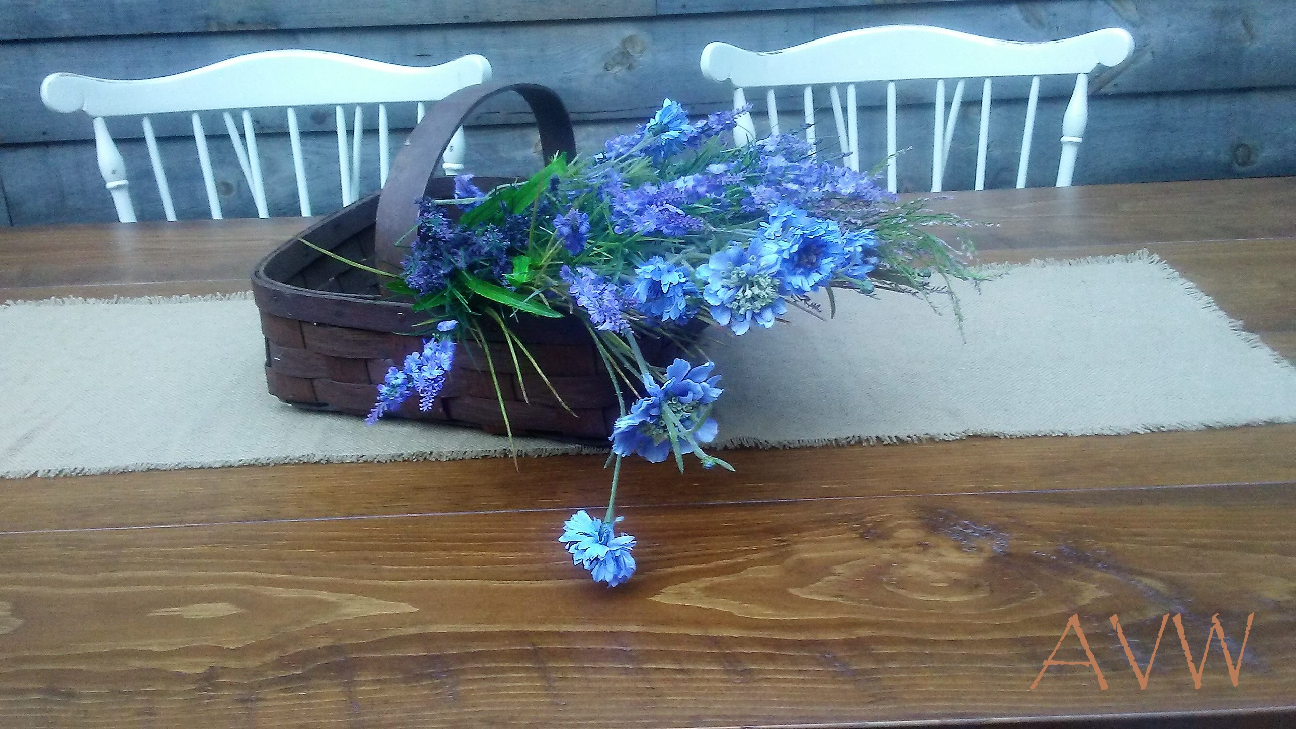 A basket of blue