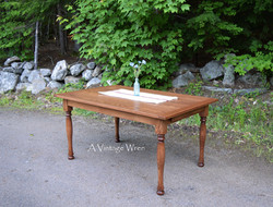 Rustic Red Oak Dining Table for 6
