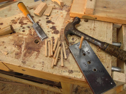 hand made hardwood pegs