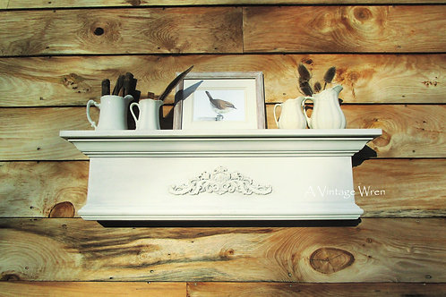 Handmade in the USA Floating Mantel Shelf
