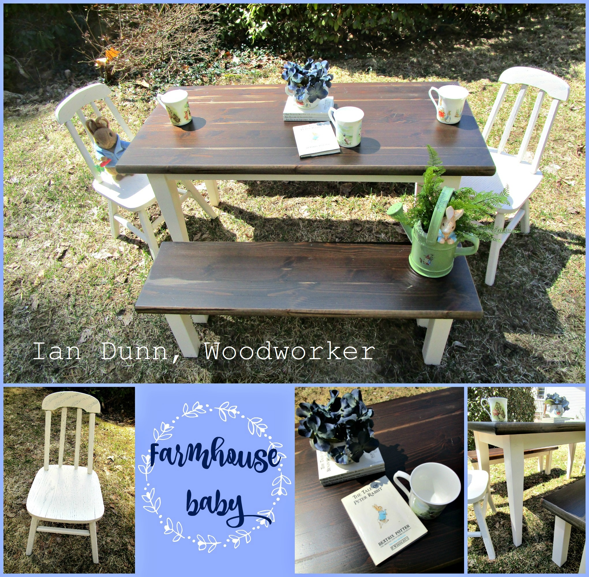 Child sized farm table set